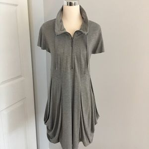KENSIE Gray Slouch Pocket Tunic Dress Size XL NEW
